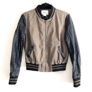 Sans Souci Jacket Bomber Vegan Leather Olive Green